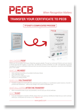 Transfer Your Certificate to PECB