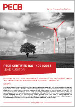 PECB Certified ISO 14001 Lead Auditor