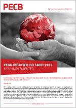 PECB Certified ISO 14001 Lead Implementer